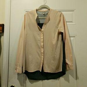 Multi colored block blouse